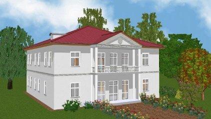 Villa nach Palladio - Entwurf P 14