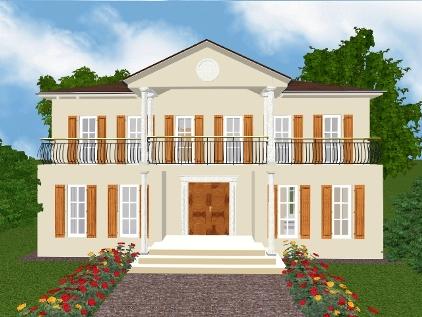 Villa neo klassizistisch italienisch haus entwurf p 12 for Grundrisse villa neubau